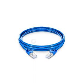 SAT CABLE PATCH CORD UTP CAT6E 3M 24AWG AZUL