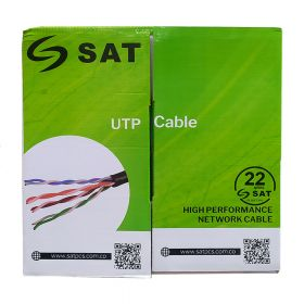 SAT CABLE UTP CAT5E COBRE 100% 305M 23AWG 0.5MM IN