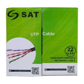 CABLE UTP SAT CAT5E PURO COBRE 0.5MM 100M INTER
