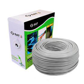 Cable UTP SAT Cat6 Puro Cobre 0.57Mm 305M Interior